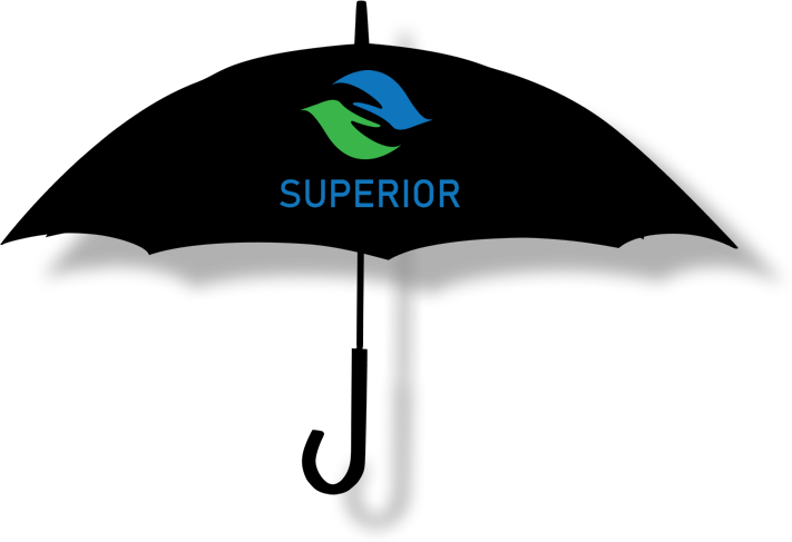 the SUPERIOR umbrella